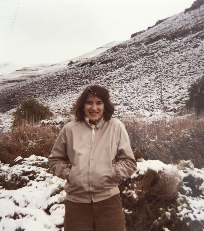 Slobodanka in 1981, Sutherland, South Africa