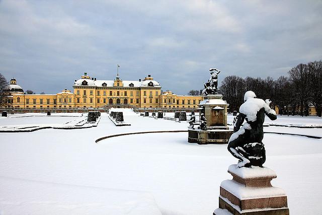 Winter at Drottningholm Palace, Stockholm