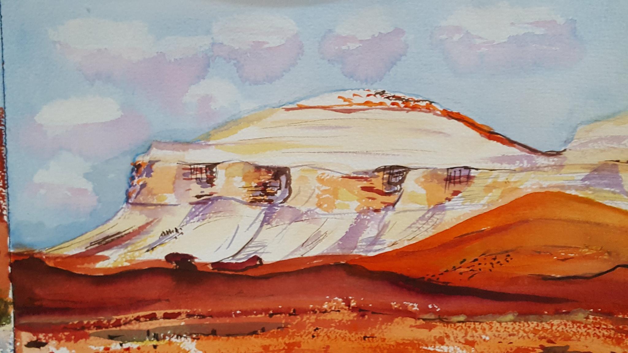Australian desert painted by Josie.