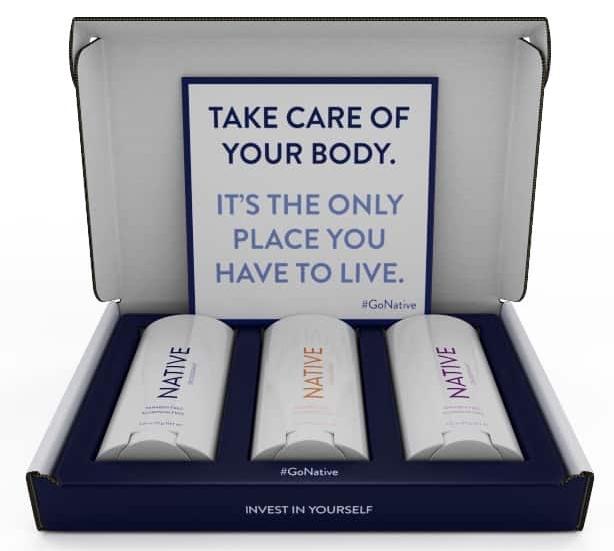 The Native deodorant 'Classic' box