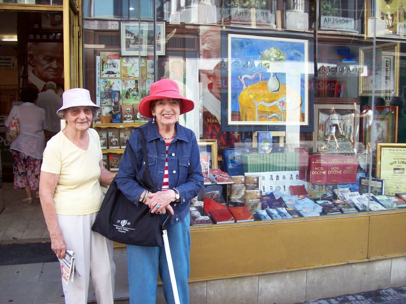 My Aunt Nada and my mother in Belgrade, 2008
