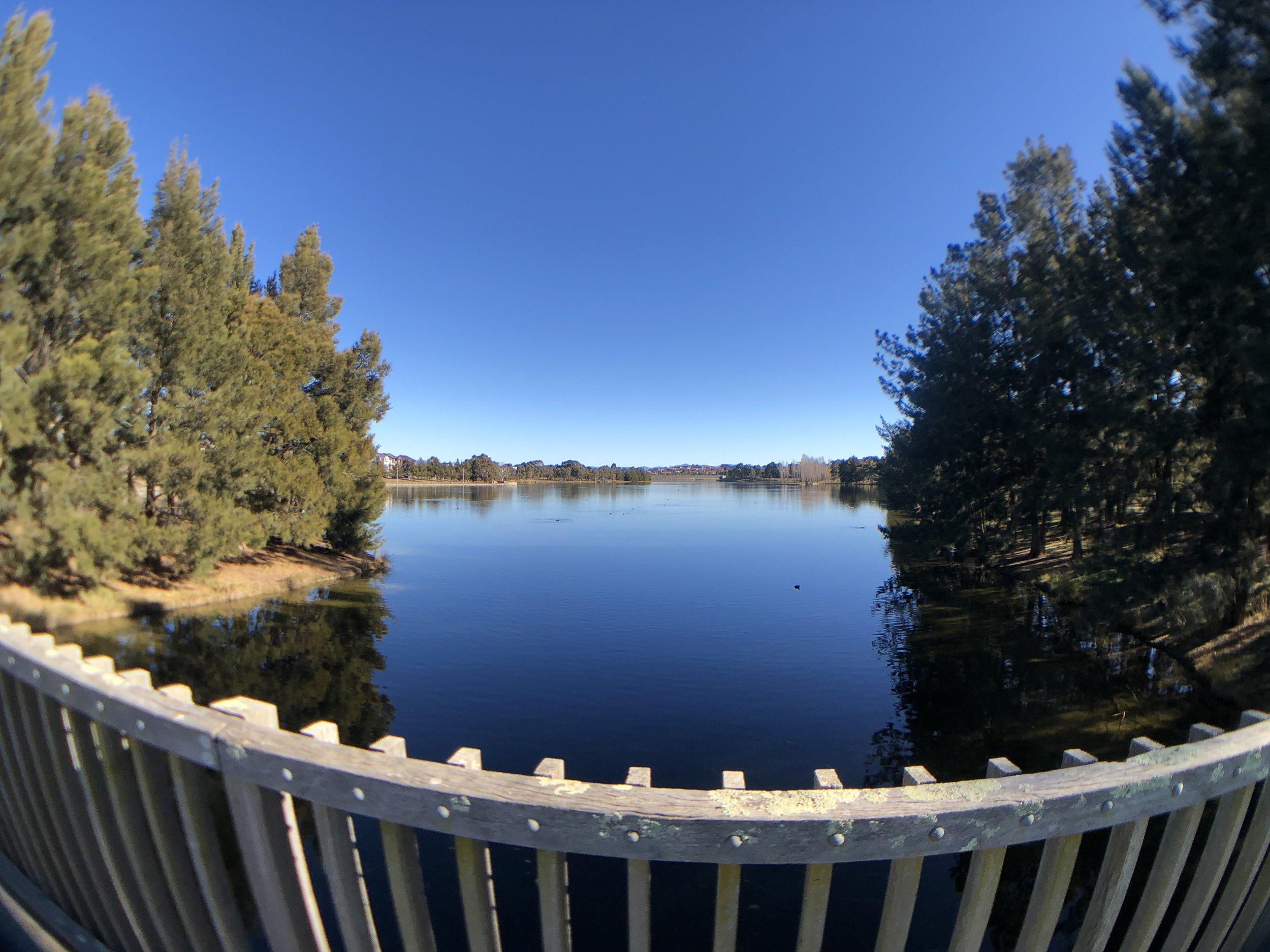 Landscape shot with wide-angle lens