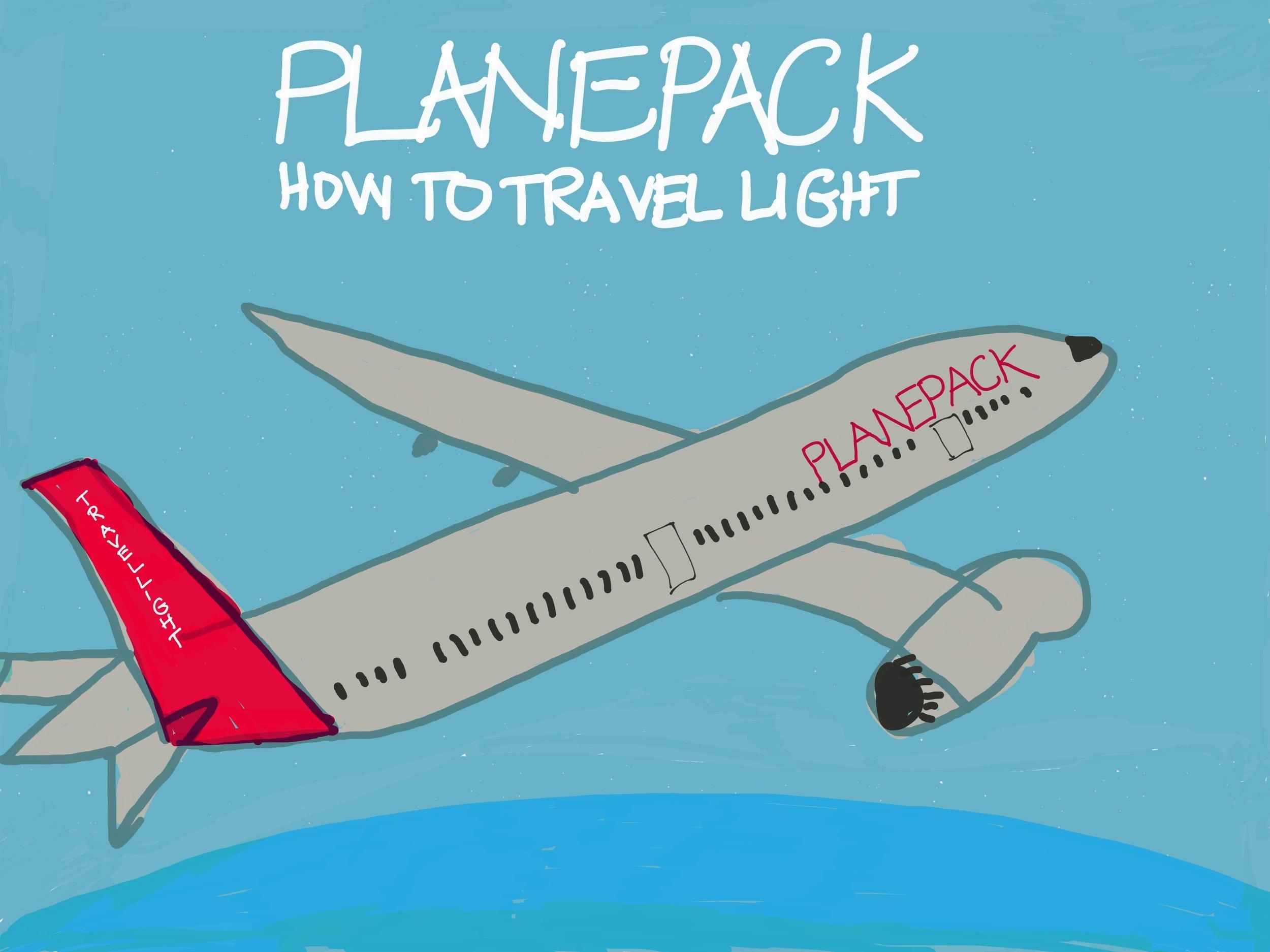 Travel light, the Planepack way