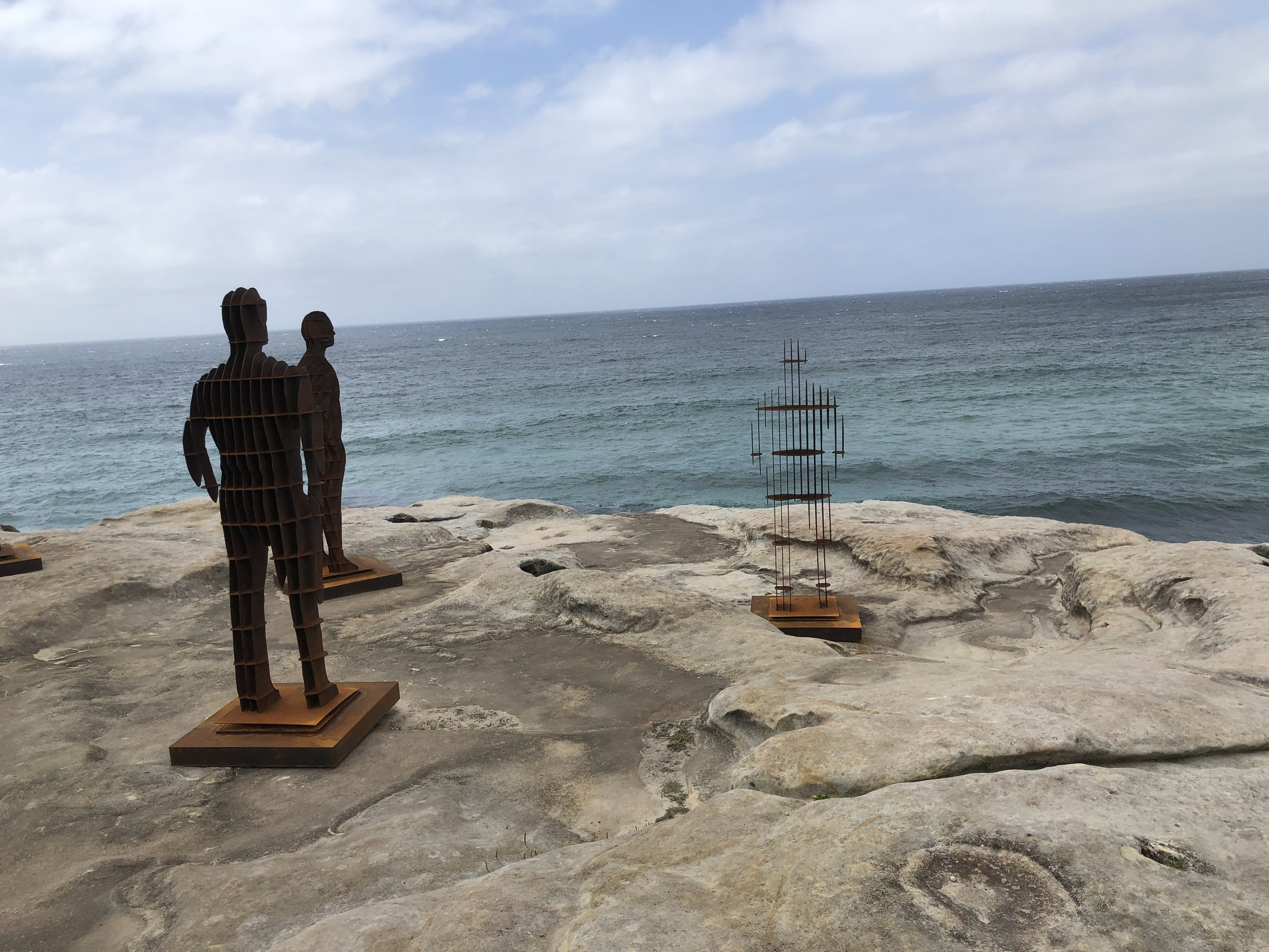 Shifting Horizons by April Pine, Sculpture by the Sea (photo by Slobodanka Graham)
