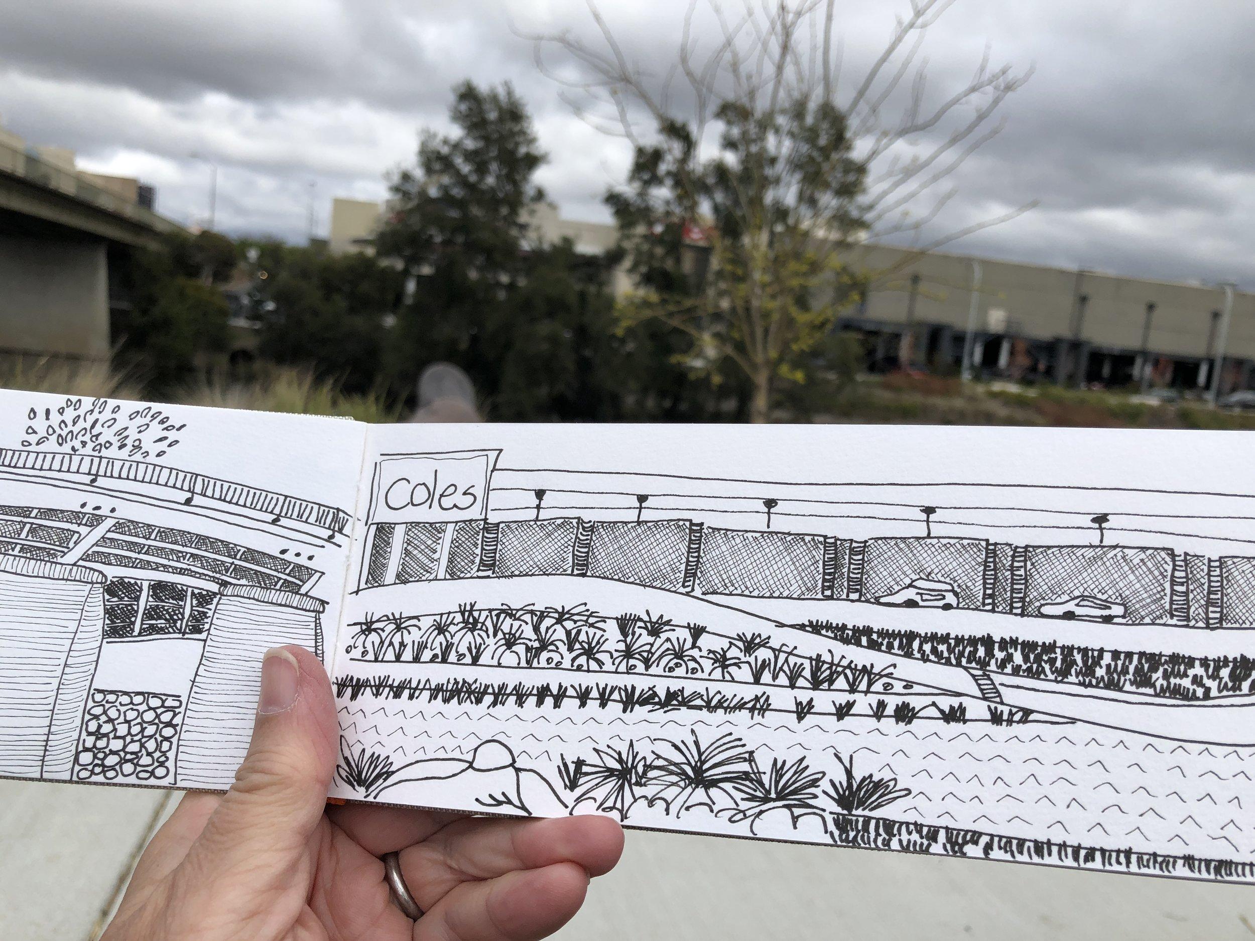 Planepack urban sketch