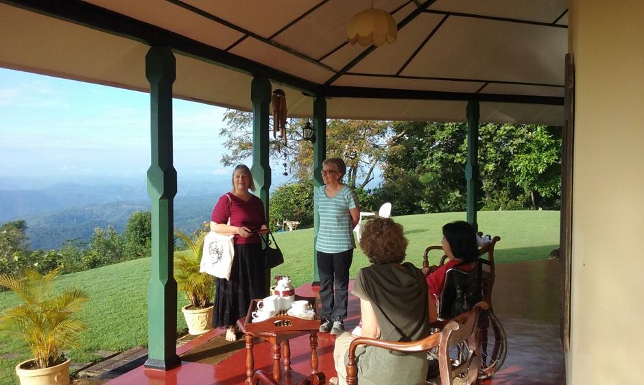 On the verandah at Vihiragala Estate Bungalow