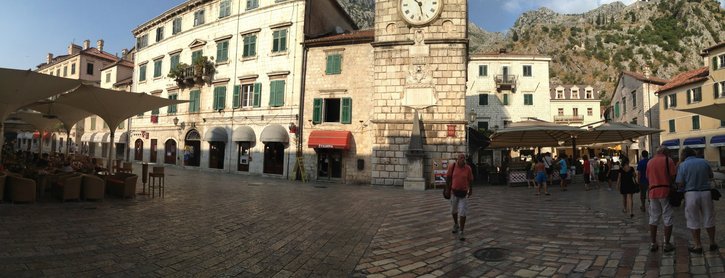The walled town of Kotor
