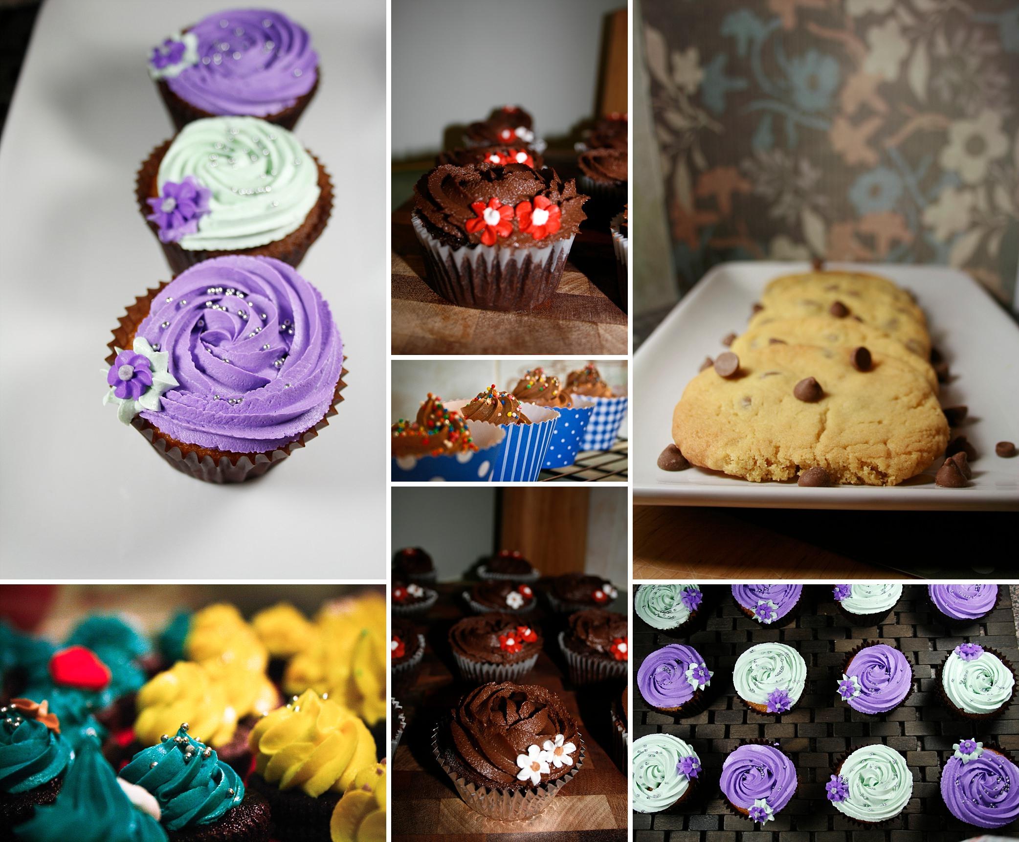 Really bad photo of cupcakes