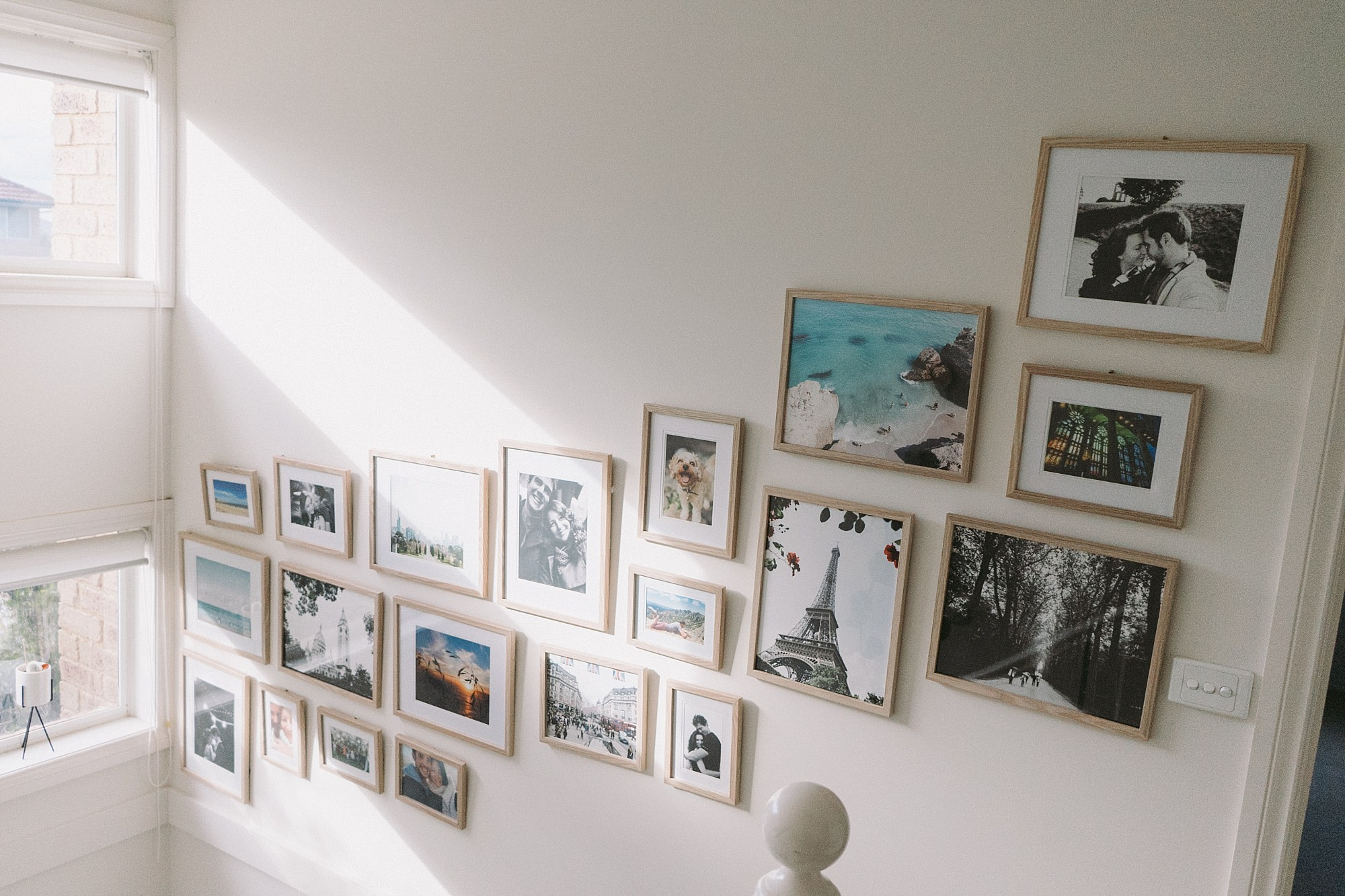 Our photo gallery wall ♥