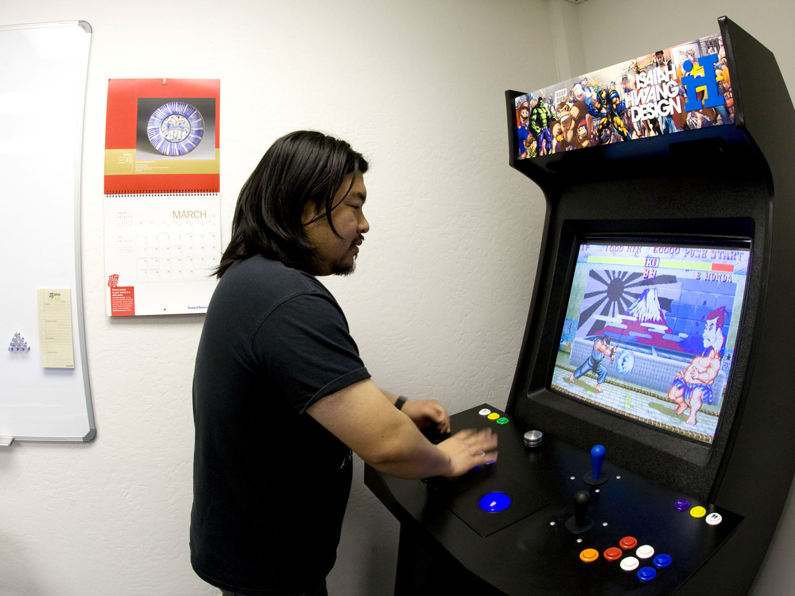 Yes…I had an arcade in my office. I miss that good, old machine. So many great memories. Street Fighter II anyone?
