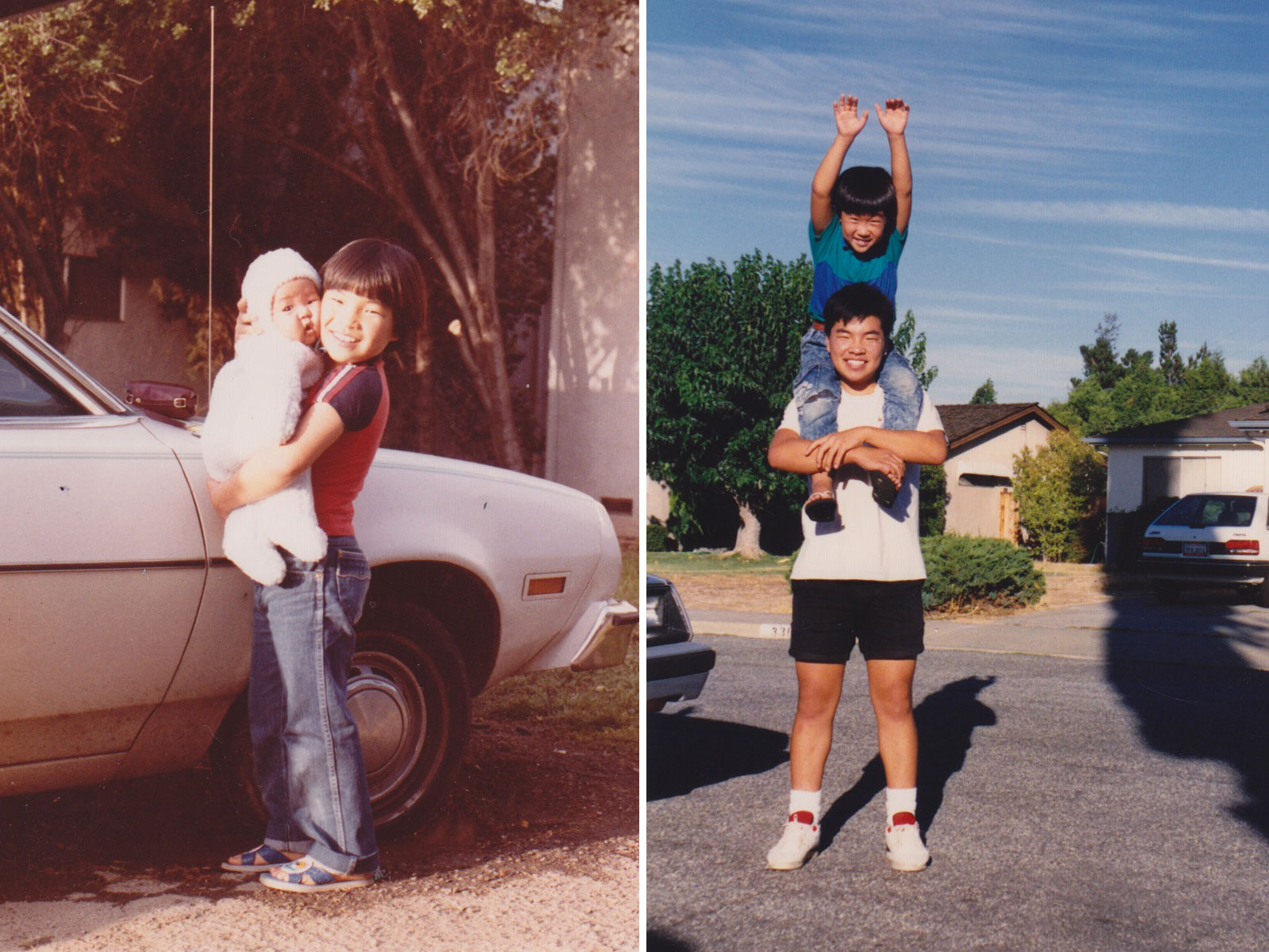 Me and my little brother growing up. Look at those shorts! Lol