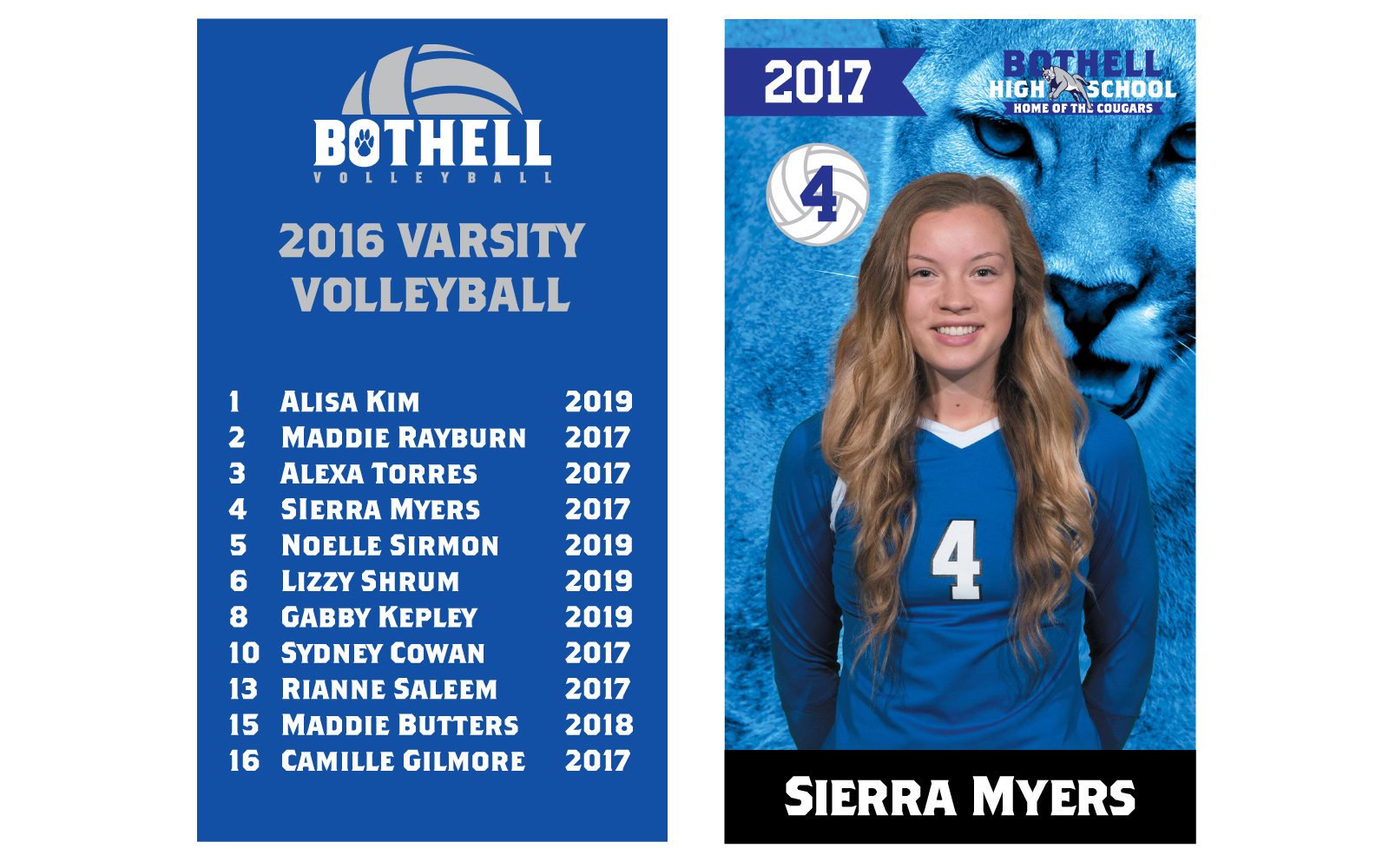 Team and senior banner design. I really love the way the senior banner turned out.