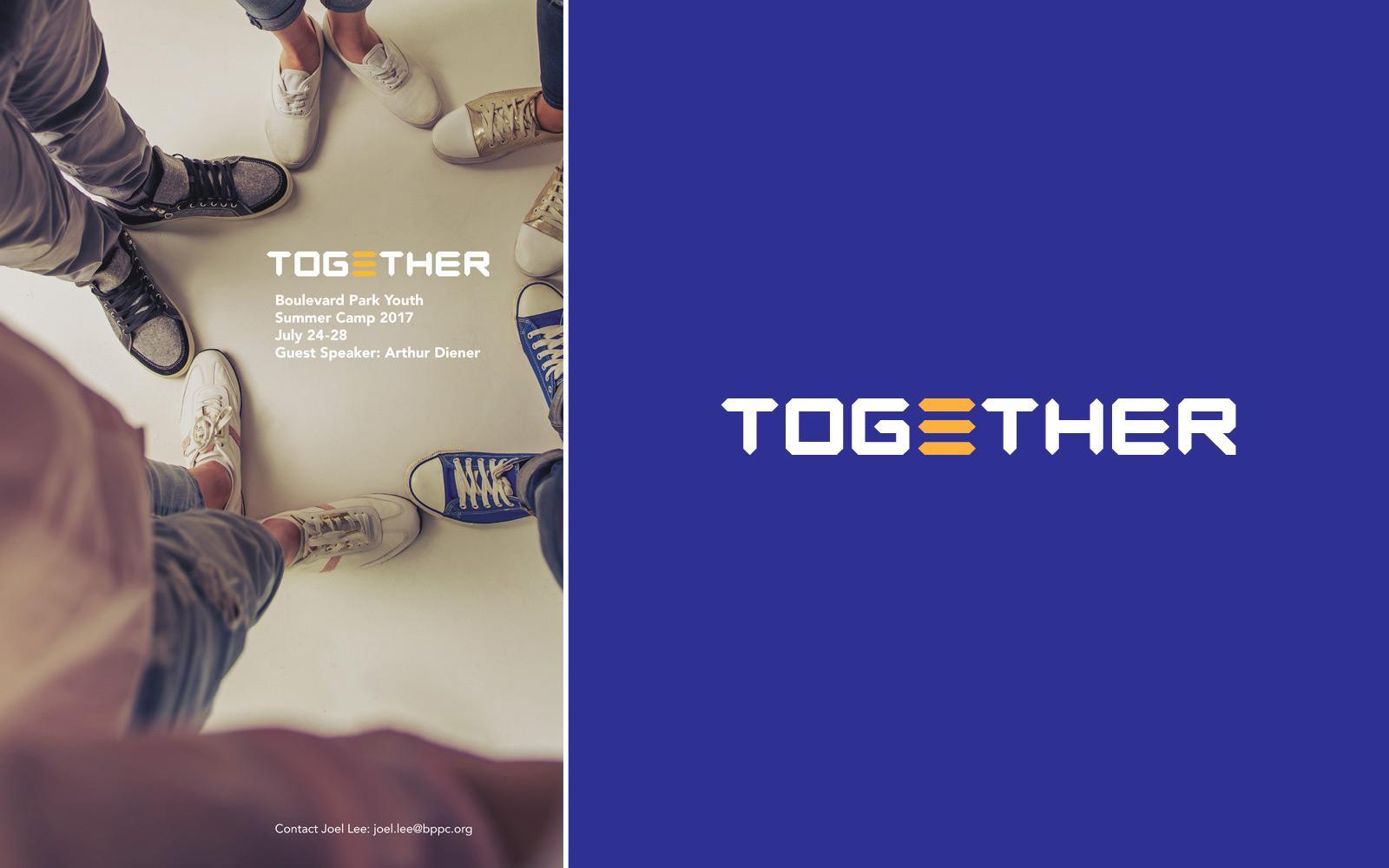 Logo and poster design for TOGETHER