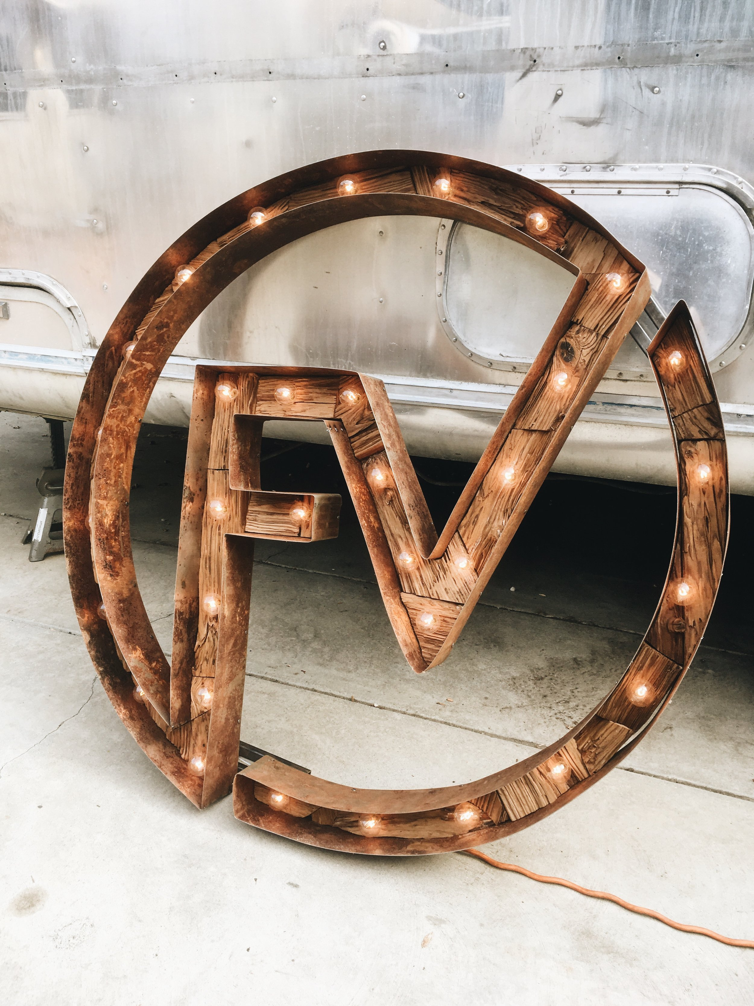 Vintage marquee sign made by AN