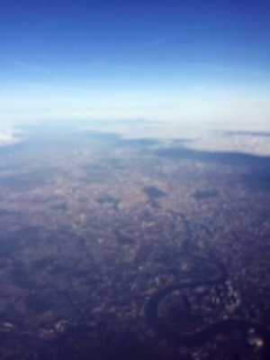 A view of London from the air