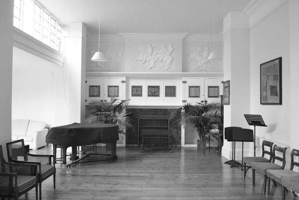 Mary Somerville Room, prior to restoration.