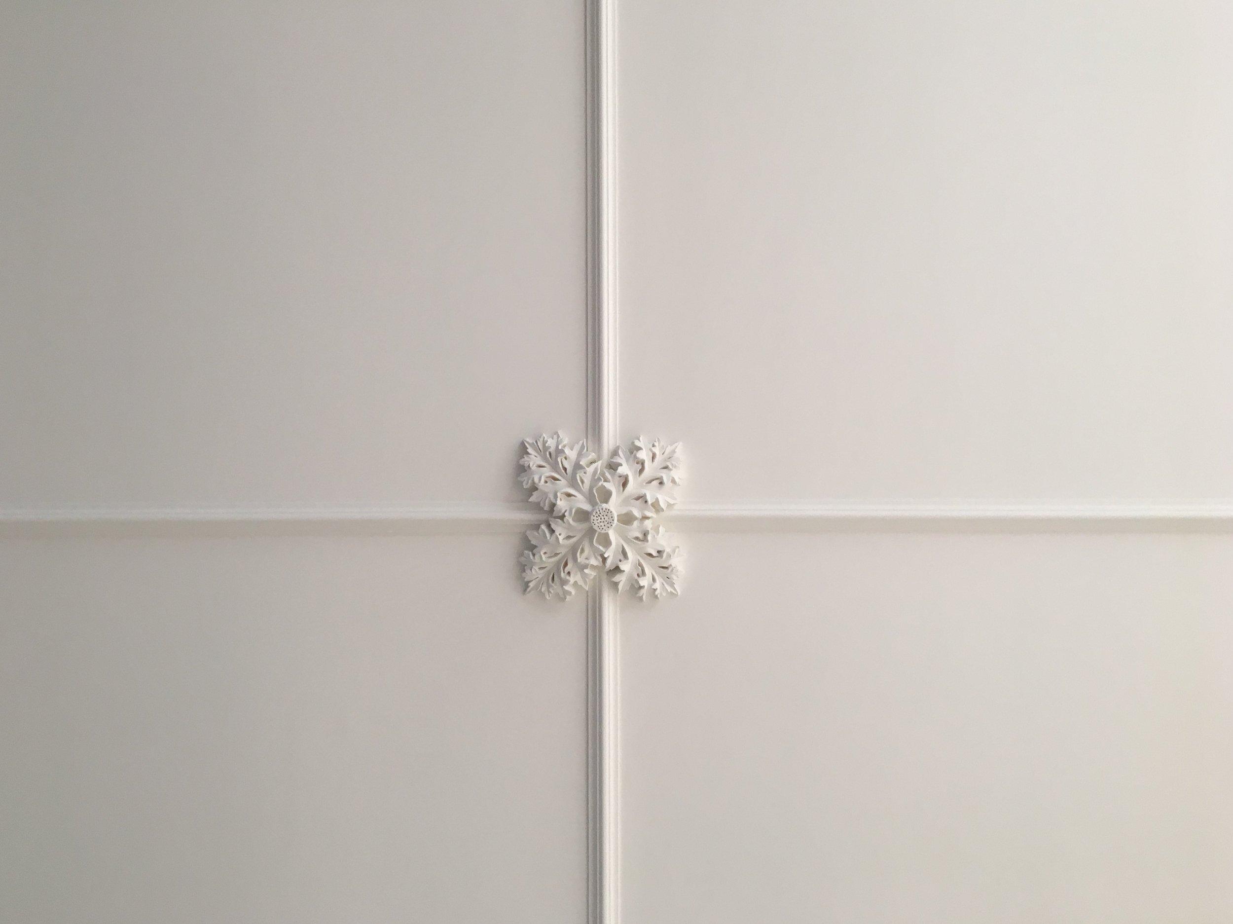 Bespoke relief detail for plaster ceiling designed by Cliveden Conservation.