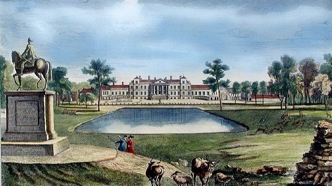 Illustration of the North Front of Stowe by George Bickham 1750