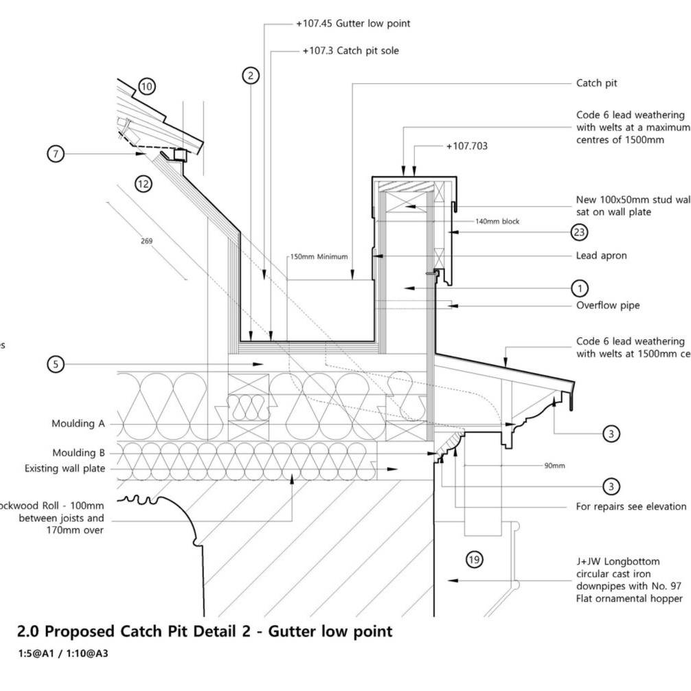 Proposed re-roofing detail