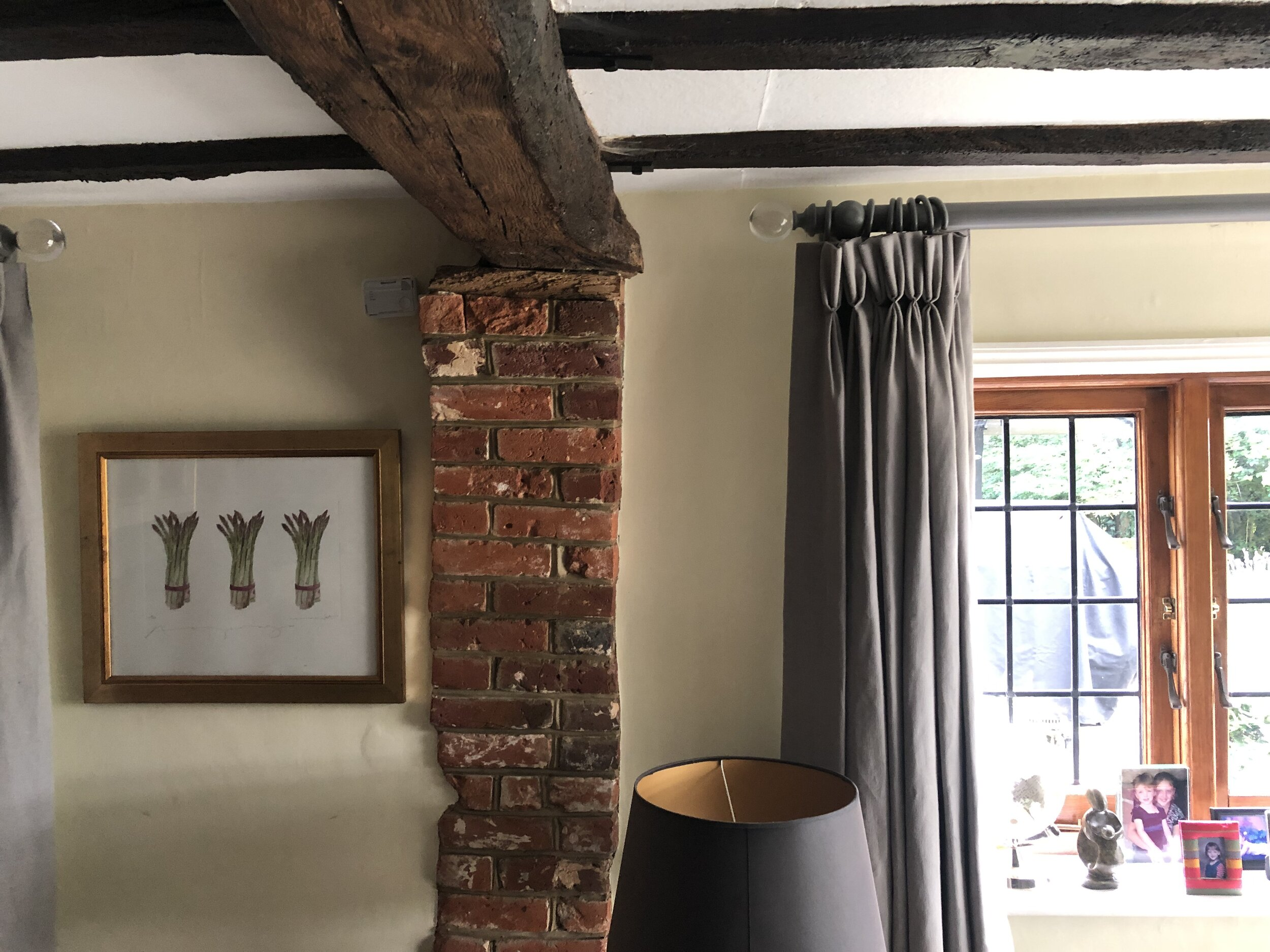 18th century modification to the 17th century timber frame