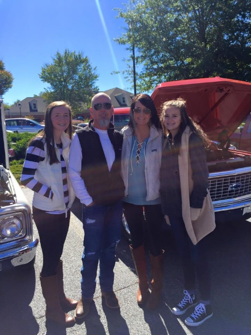 Barry, Sarah, Lexi and Shelby sponsoring the Good Neighbor Car Show in Blairsville 2015