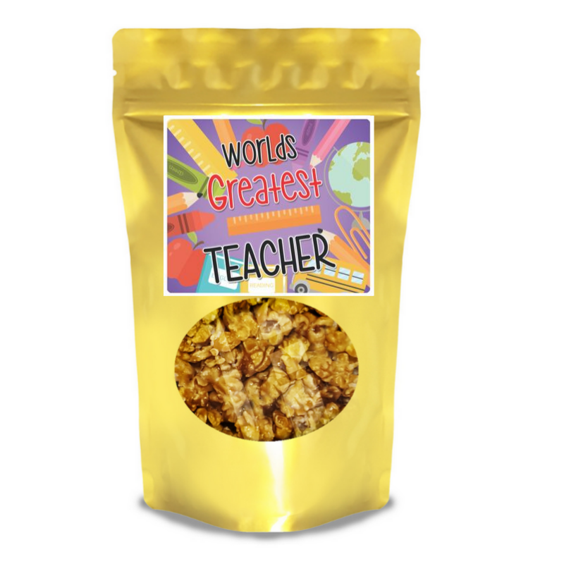 Teacher Gifts - -You can customize your label-2 cups of delicious popcorn-Great for events or appreciation gifts-Bags are resealable-$2 per bag-Shelf life of 4 months for sweet flavors