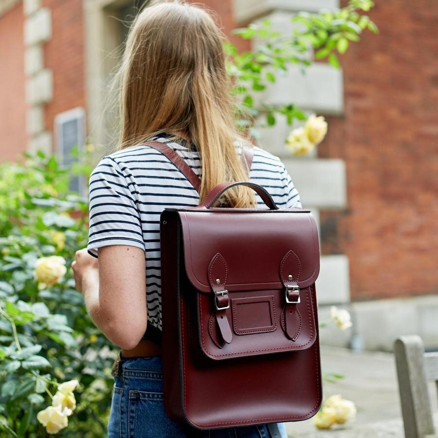 Leather Backpacks - I recently purchased my first leather backpack from Camridge Satchel Company and I love it. Although the specific colour and design is now sold out there are many more available, like this bay and dark brown one. It's great for throwing everything that I need for the day in and is also easier on my back and shoulders.