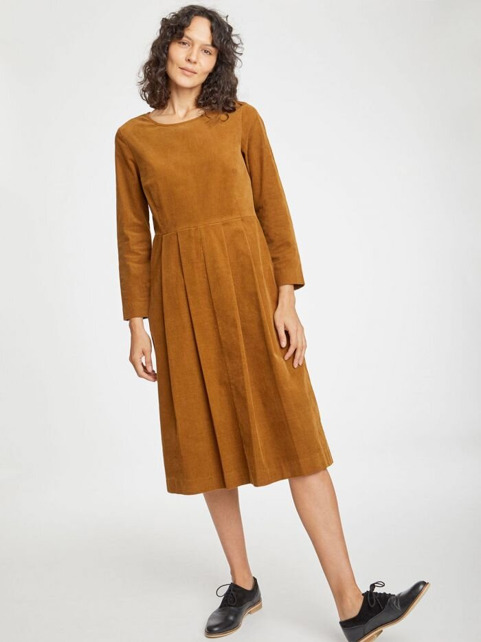 Lisket Cord Dress - I've become a little obsessed with cord this season and with this dress a similar shade to the Jesper coat it's another great piece for autumn. Worn with tights and boots, I love this style for rainy days.