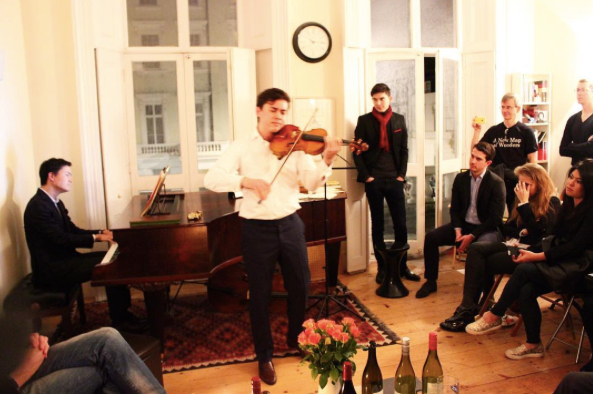 World renowned musicians, Ben Beilman and Louis Schwizgebel, play at the London salon