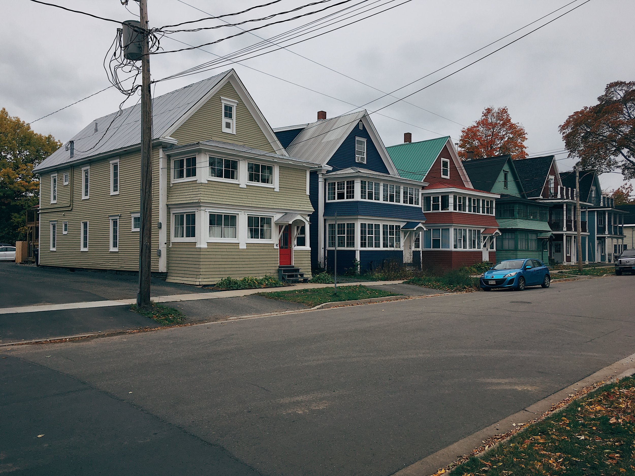 Neighbourhood Houses in the Rabbit Town area of Fredericton, New Brunswick.