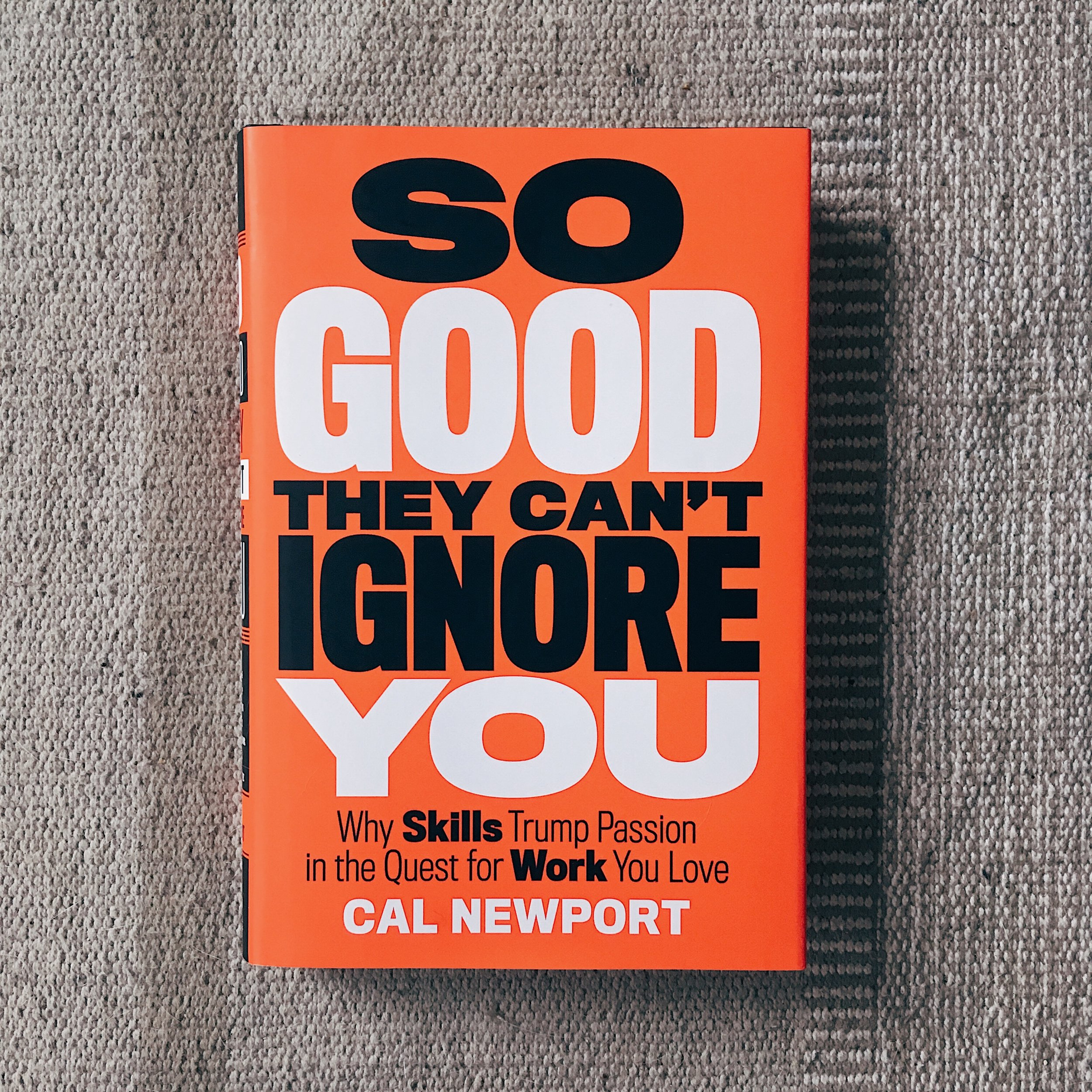 Get your own copy of    So Good They Can't Ignore You  .