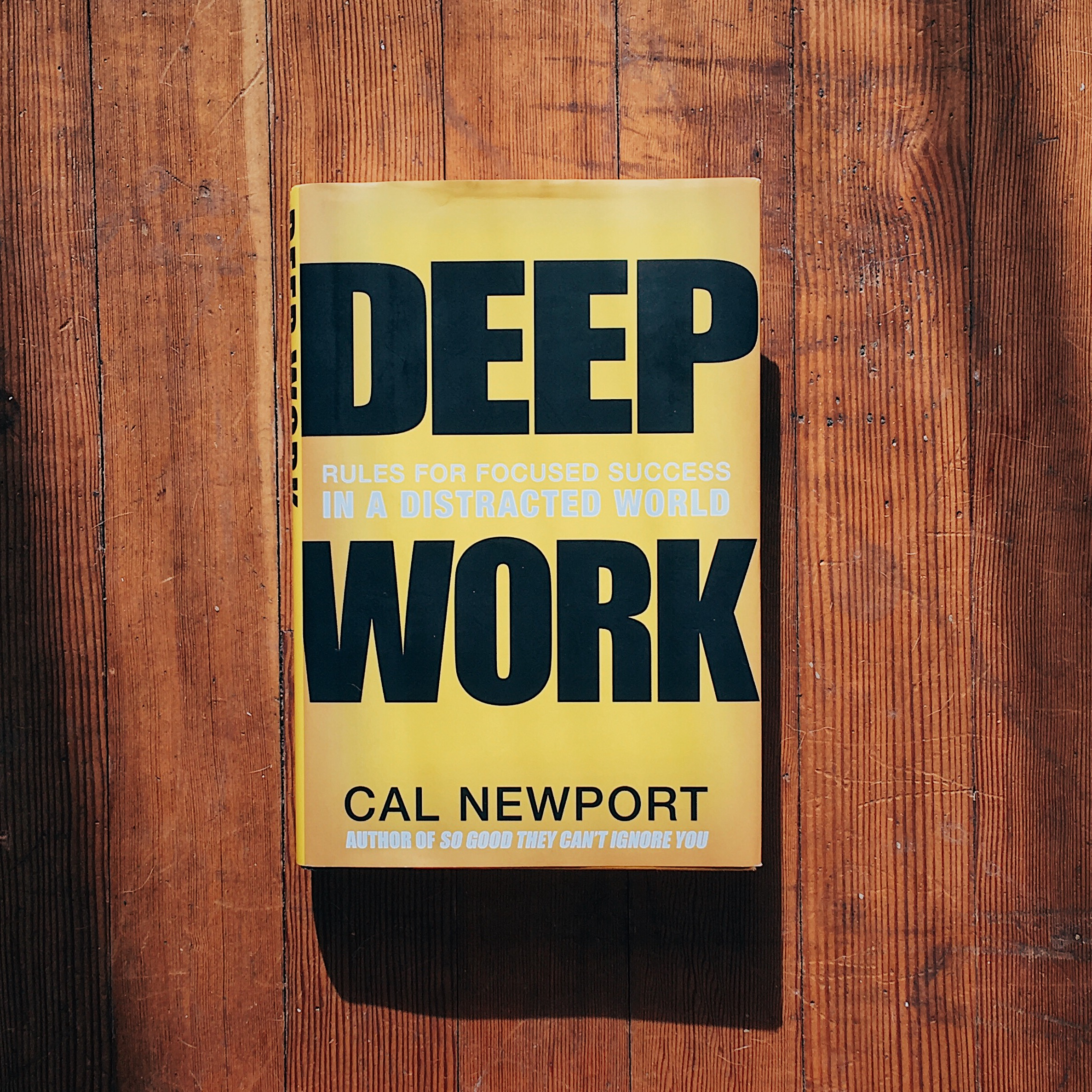 Get your own copy of    Deep Work  .