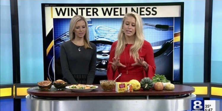 Winter Wellness Week: Healthy Cooking.   Channel 8 News WROC TV - November9, 2018    Read more