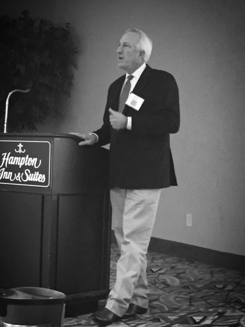 Texas trial lawyer John Sloan teaches seminar attendees how to tell the story of a traumatic brain injury -