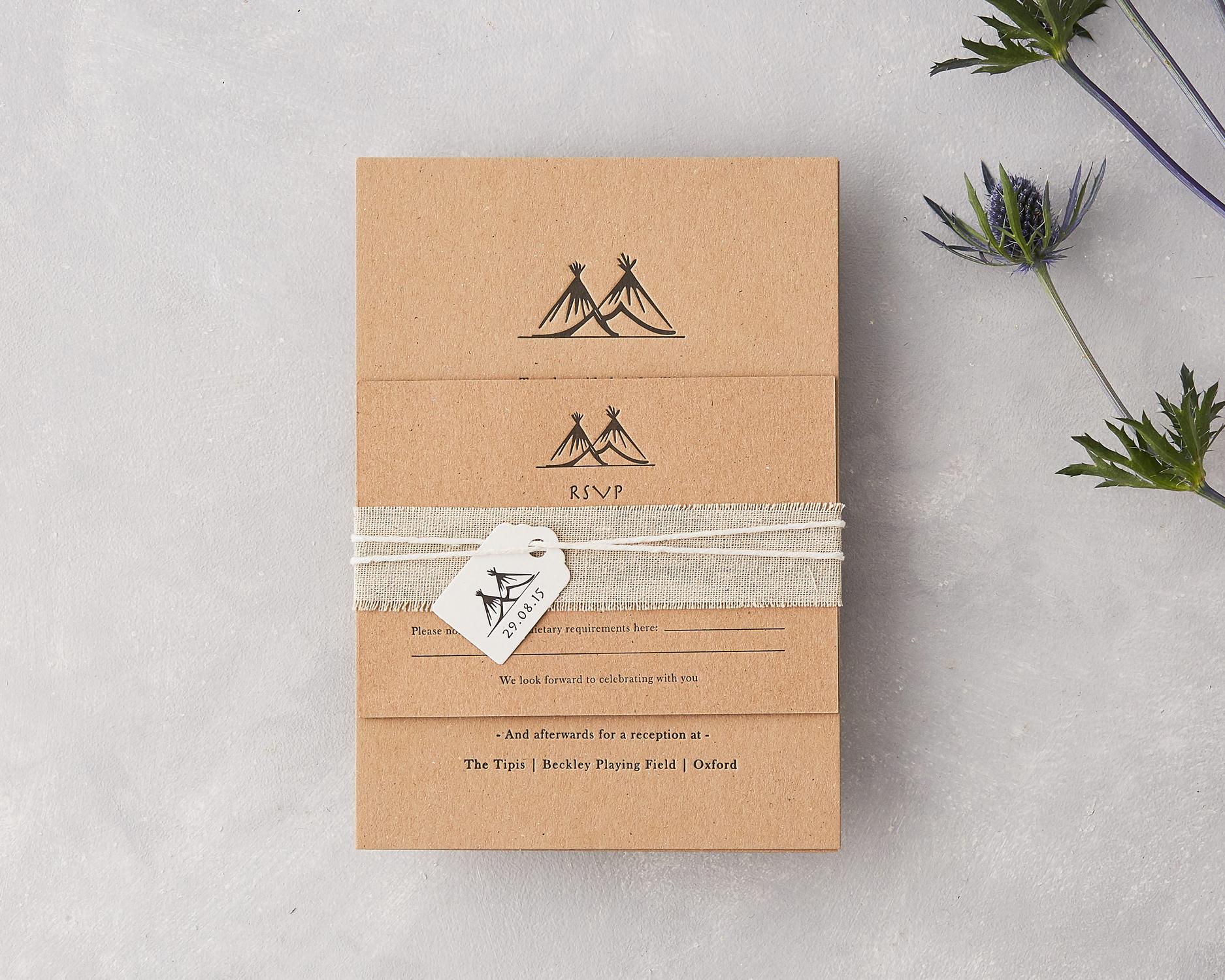Tipi Wedding Invitation Set