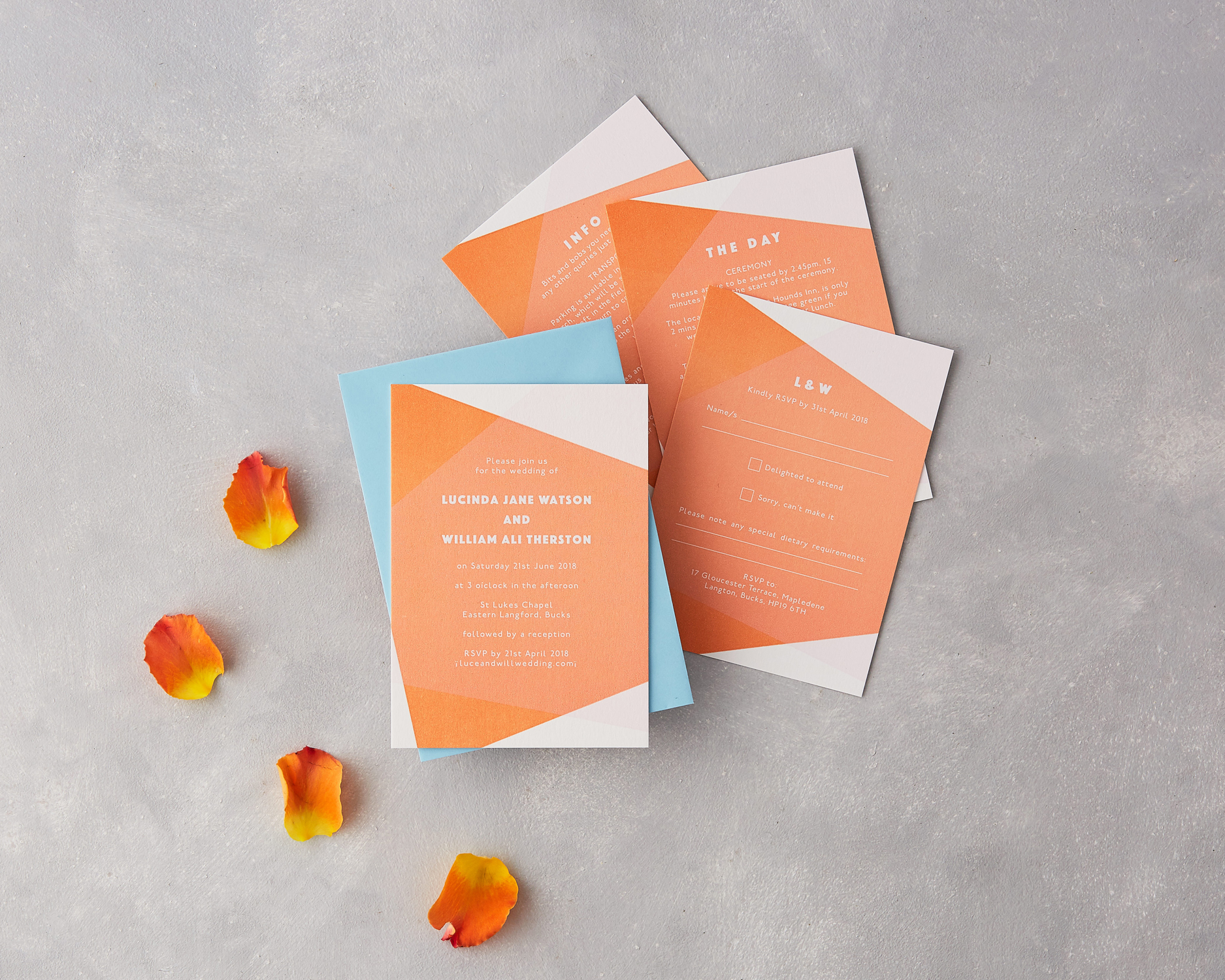 Modern Wedding Invitation Set