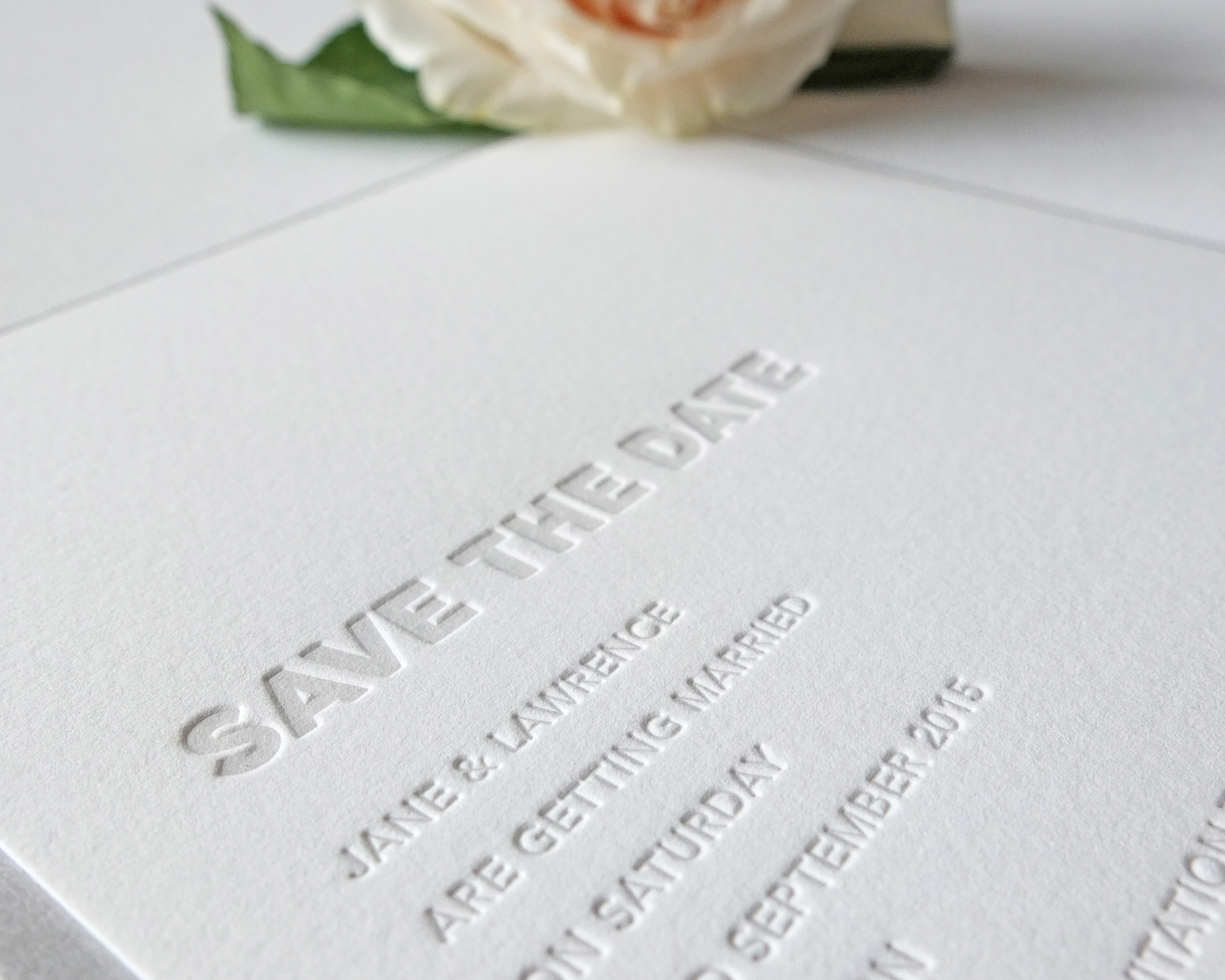 Embossed Save The Date