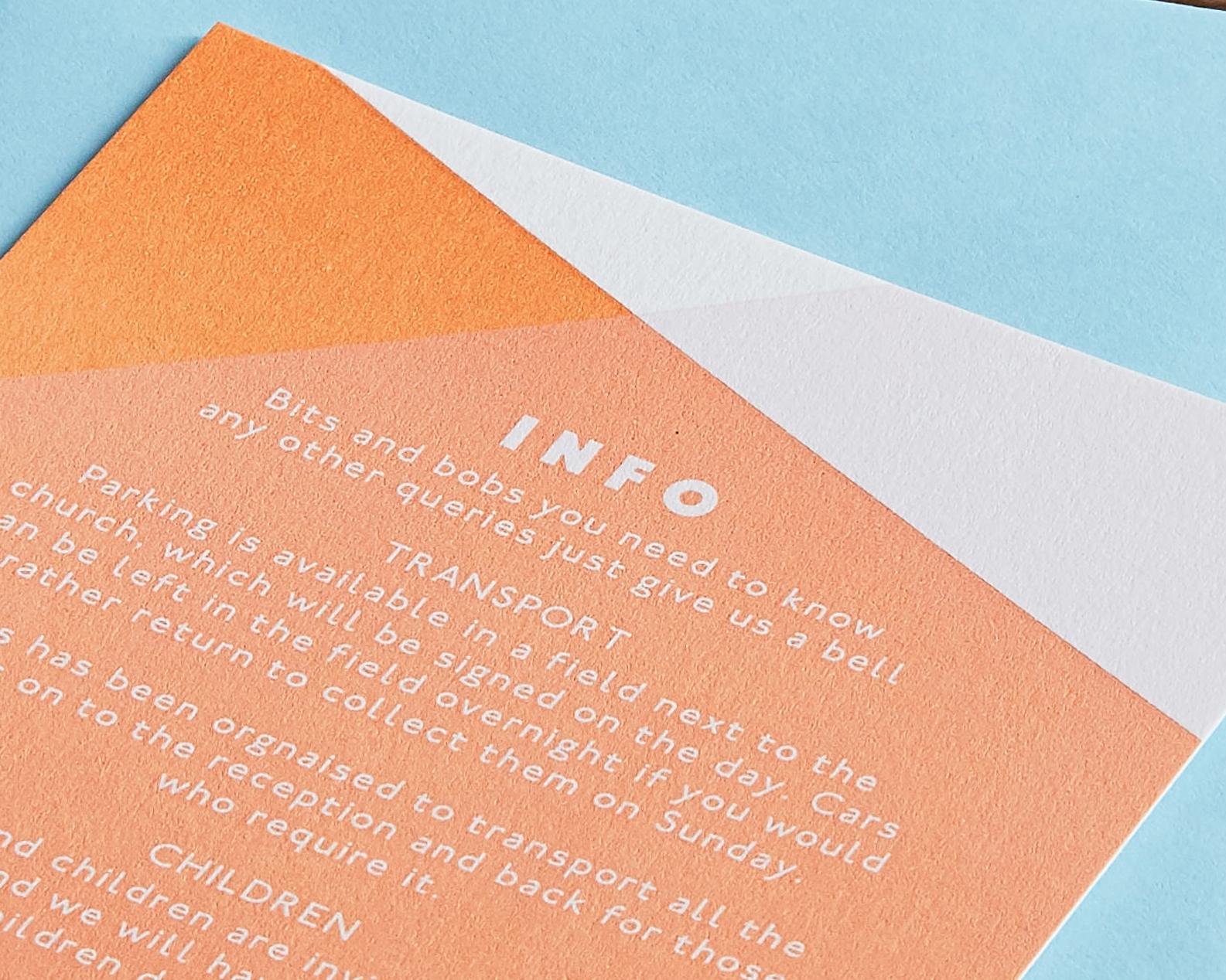 Letterpress Information Card