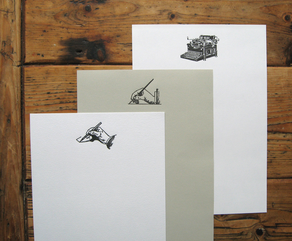 Letterpress Vintage Headed Papers for a Wedding Guest Book.