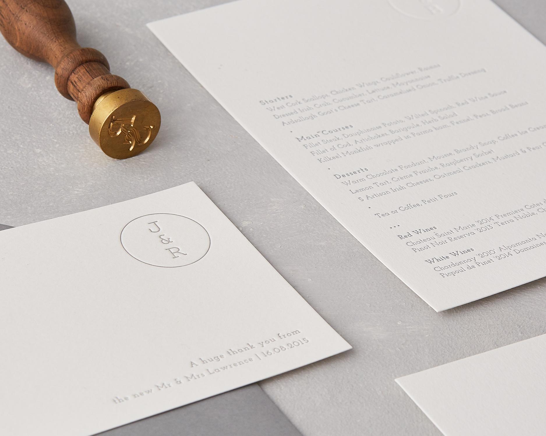 Ceremony & Reception Stationery