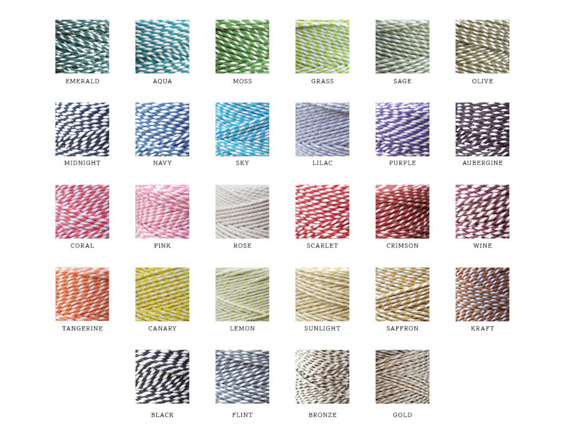 BAKERS TWINE COLOURS