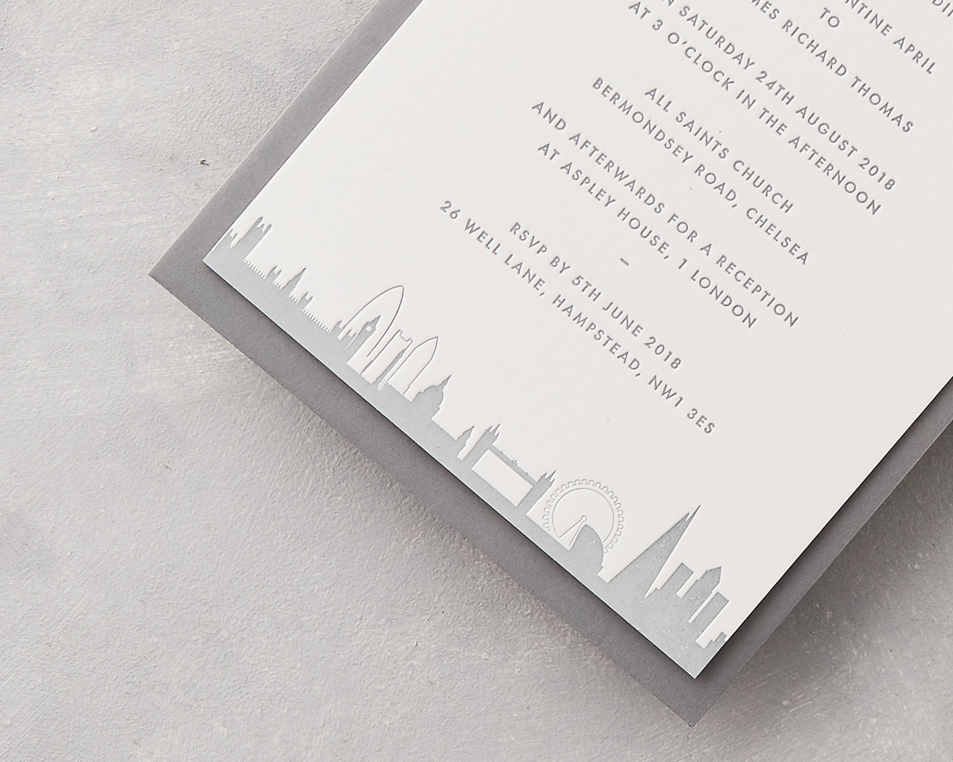 London Wedding Invitation