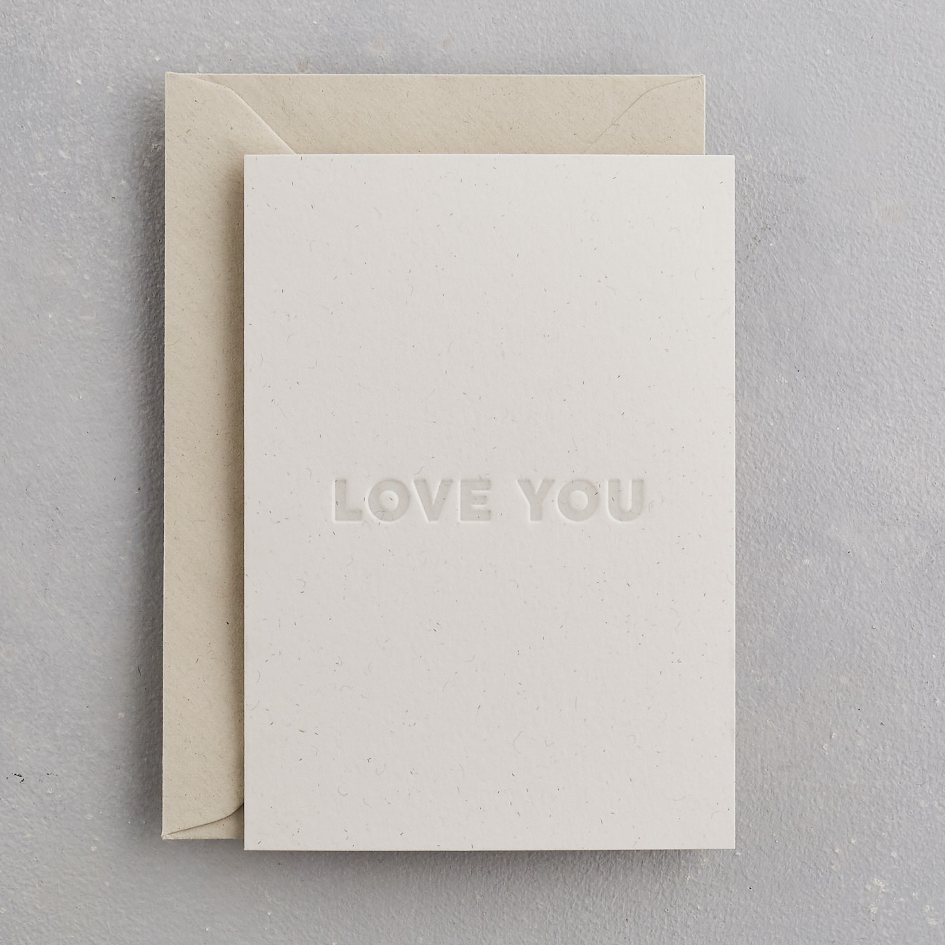 Love You Uniquely Letterpress Card
