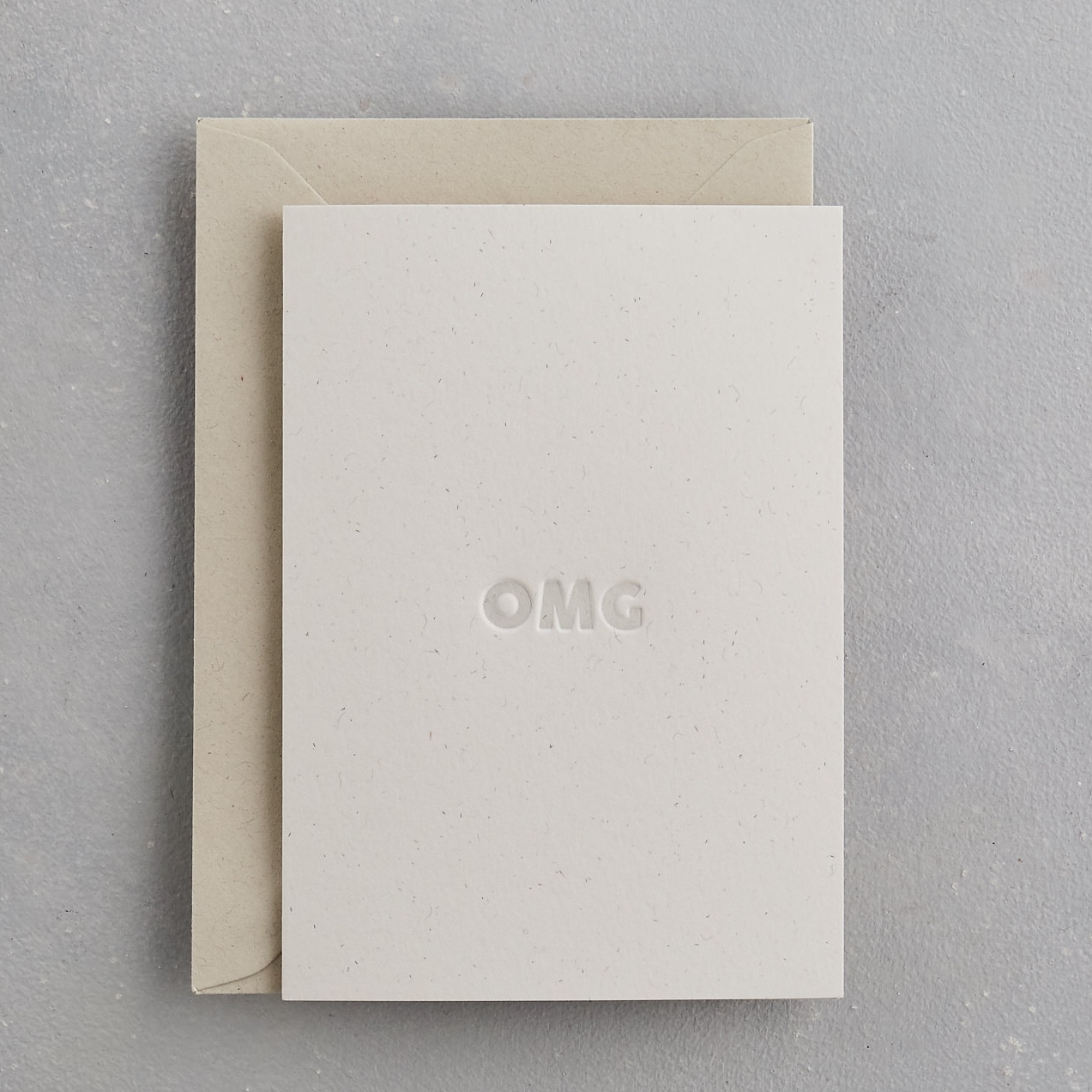 OMG Uniquely Letterpress Card