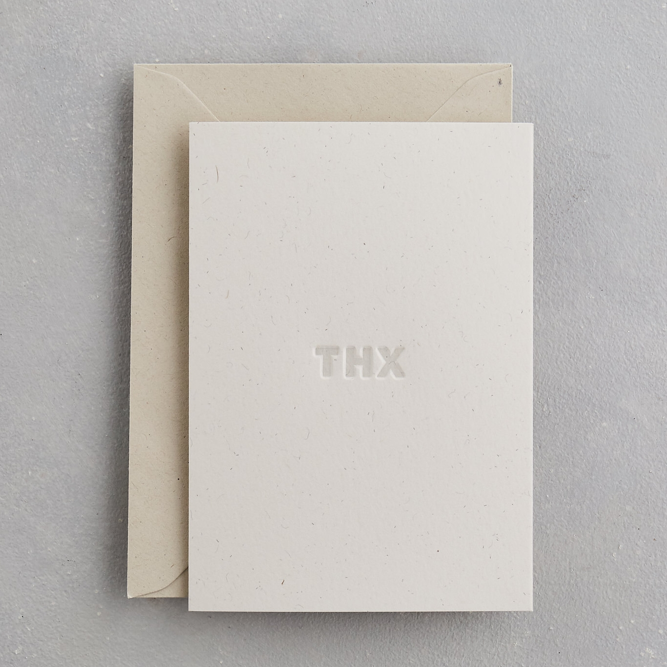 THX - Thanks Card Uniquely Letterpress