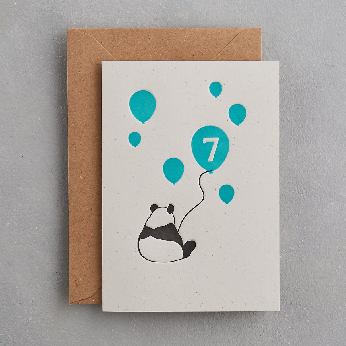 7 Year Old Birthday Card Uniquely Letterpress
