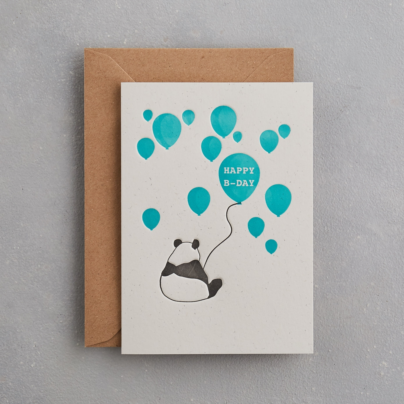 Happy Birthday Card Uniquely Letterpress