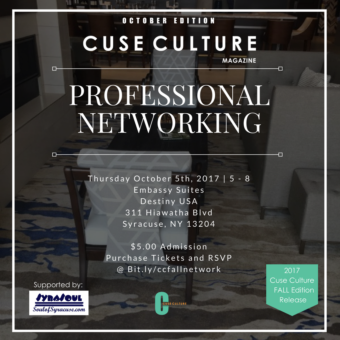 October Edition: Minority Professional Networking   RSVP @ bit.ly/ccfallnetwork