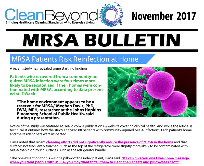 CleanBeyond kills MRSA