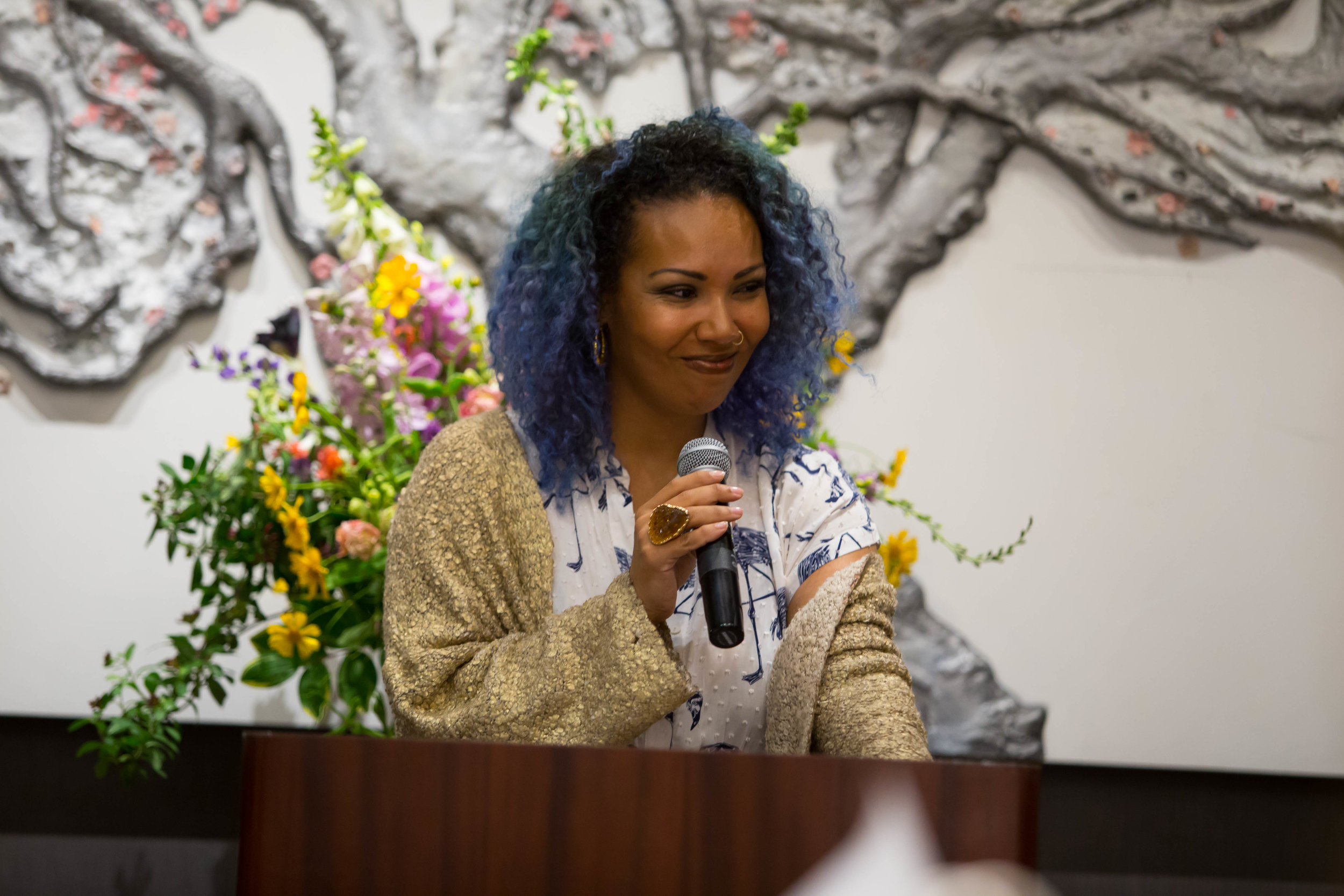 - Our beautiful host, Jamilah Lemieux, helped to set the tone of the uplifting and empowering program.